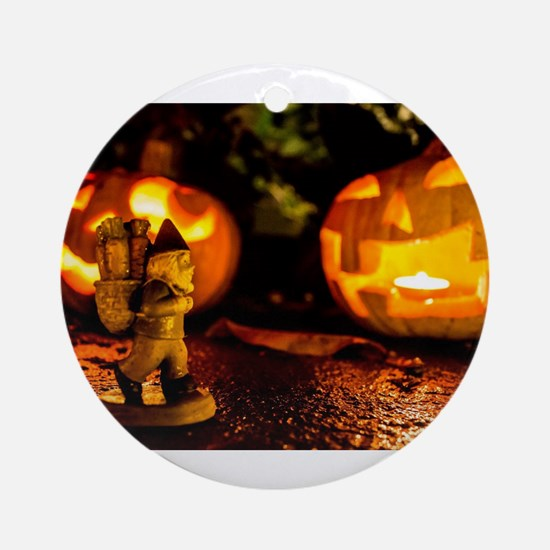 Spooky Journey Round Ornament