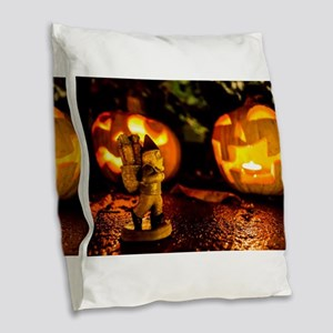 Spooky Journey Burlap Throw Pillow