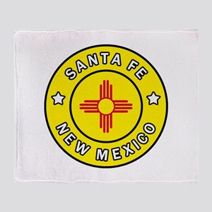 Santa Fe New Mexico Throw Blanket