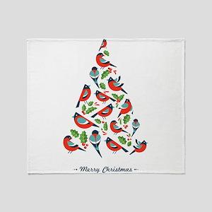 Birds make Christmas tree with holy Throw Blanket