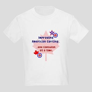 """""""US-CA Curling"""" Kids Light T-Shirt"""