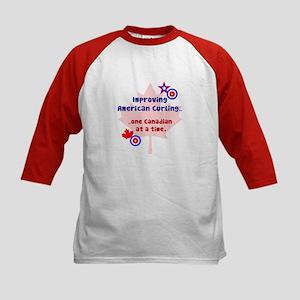 """US-CA Curling"" Kids Baseball Jersey"