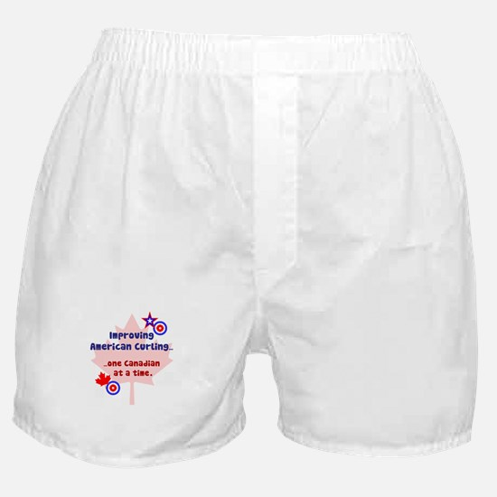 """US-CA Curling"" Boxer Shorts"