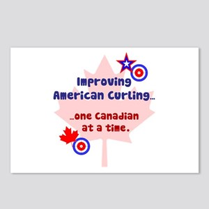 """US-CA Curling"" Postcards (Package of 8)"