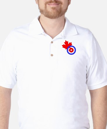 """US-CA Curling"" Golf Shirt"