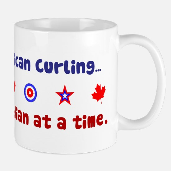 """US-CA Curling"" Mug"