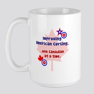 """US-CA Curling"" Large Mug"