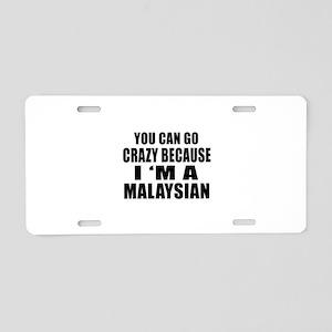 Malaysian Designs Aluminum License Plate