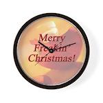 Merry Freakin' Christmas Wall Clock