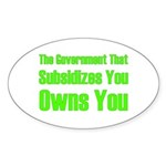 Gov't Owns Sticker (Oval 10 pk)