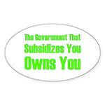 Gov't Owns Sticker (Oval)