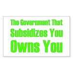 Gov't Owns Sticker (Rectangle 50 pk)