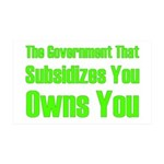 Gov't Owns 35x21 Wall Decal