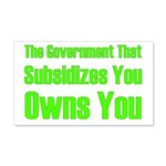 Gov't Owns 20x12 Wall Decal