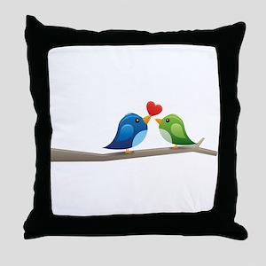 Twitter bird Throw Pillow