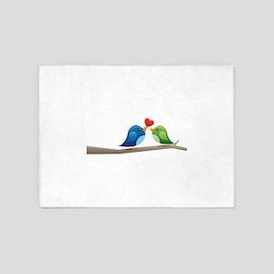 Twitter bird 5'x7'Area Rug