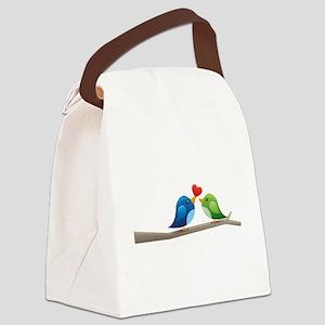 Twitter bird Canvas Lunch Bag