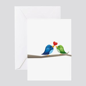 Twitter bird Greeting Cards