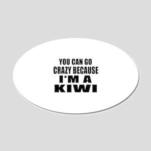I Am Kiwi 20x12 Oval Wall Decal