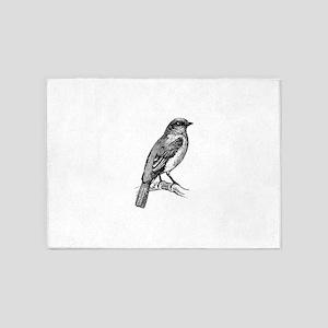 Bluebird clip art 5'x7'Area Rug