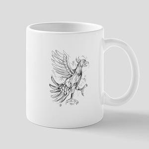 Cuauhtli Glifo Eagle Fighting Stance Tattoo Mugs