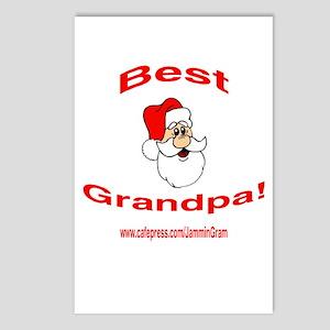 BEST SANTA GRANDPA Postcards (Package of 8)