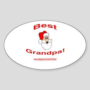 BEST SANTA GRANDPA Oval Sticker