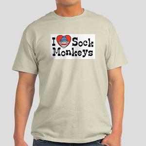I Love Sock Monkeys Light T-Shirt