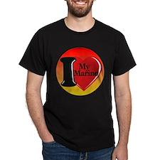 I Heart My Marine Dark T-Shirt