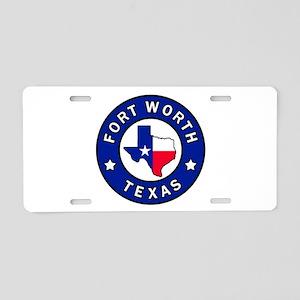 Fort Worth Texas Aluminum License Plate