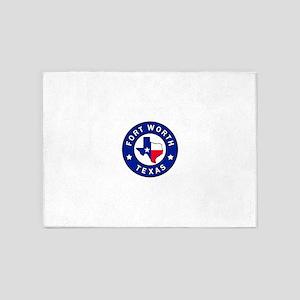 Fort Worth Texas 5'x7'Area Rug