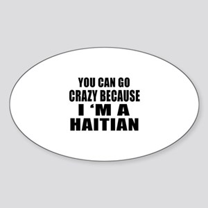 Haitian Designs Sticker (Oval)