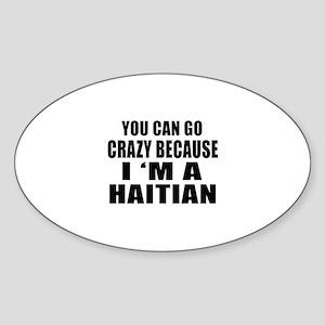 Haitian Designs Sticker (Oval)