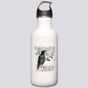 Leaves birds backgroun Stainless Water Bottle 1.0L