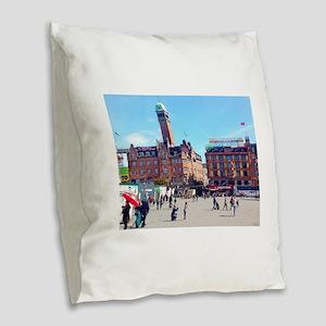 Copenhagen Square Burlap Throw Pillow