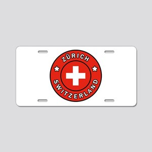 Zurich Switzerland Aluminum License Plate