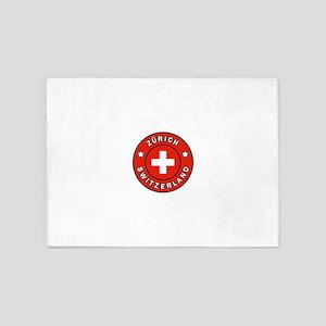Zurich Switzerland 5'x7'Area Rug