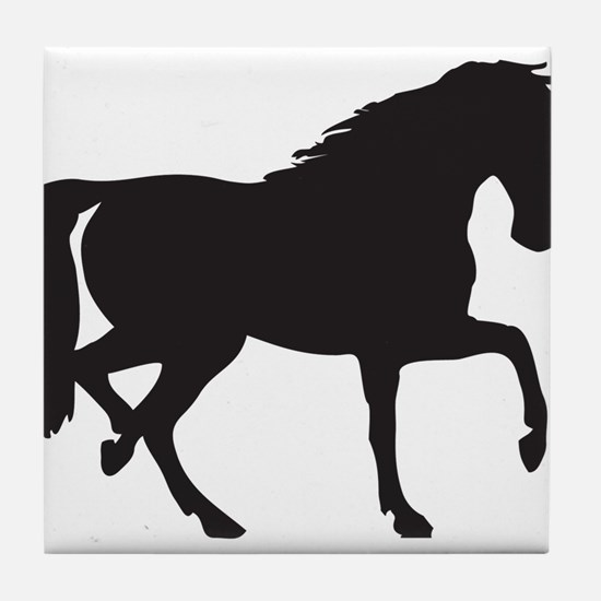 Horse silhouette clip art Tile Coaster