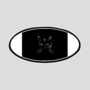 Black cat blue eye Patch