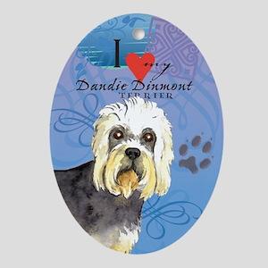 Dandie Dinmont Oval Ornament