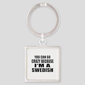Swedish Designs Square Keychain