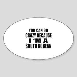 South Korean Designs Sticker (Oval)
