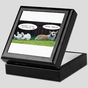 Laughing Corgis Keepsake Box