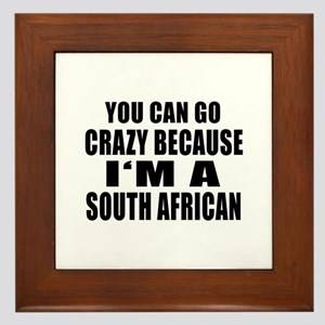 South African Designs Framed Tile