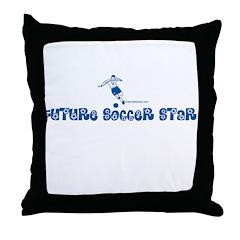 FUTURE SOCCER STAR Throw Pillow