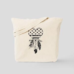 American Dreamcatcher Heart Tote Bag