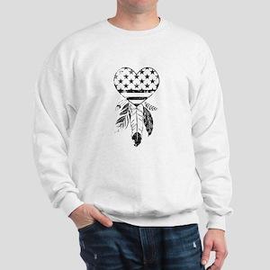 American Dreamcatcher Heart Sweatshirt