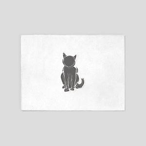 Black cat clip art 5'x7'Area Rug