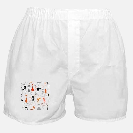 Cartoon cat seamless pattern graphic Boxer Shorts