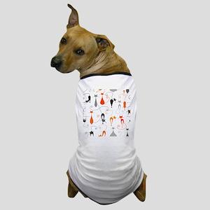 Cartoon cat seamless pattern graphic Dog T-Shirt